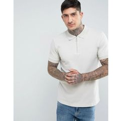 Another influence zip polo shirts - grey