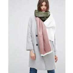 supersoft long woven scarf in colour block - multi marki Asos