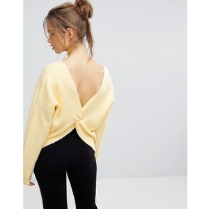 Micha lounge wrap back jumper - yellow
