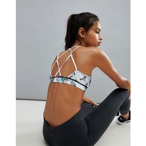 South Beach Shard Print Strappy Back Crop Top - Multi