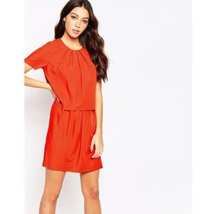 Y.a.s trine twofer dress - red