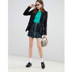 Stradivarius Check A Line mini skirt - Navy