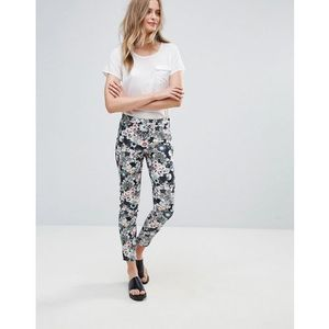 French Connection Isola Bloom Print Cotton Trousers - Black, bawełna