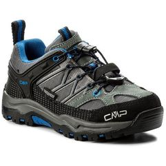Cmp Trekkingi - kids rigel low trekking shoes wp 3q54554 grey/zaffiro 52ak