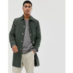 shower resistant trench coat in green - green marki Asos design