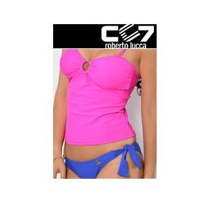 Set kąpielowki cc7 tanikini hot pink + briefs electric blue no. 36 marki Cc7 roberto lucca