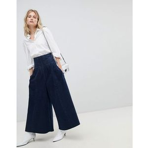 Asos wide leg jeans with corset waist detail - blue