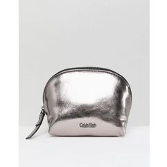 Calvin klein metallic make up bag - silver