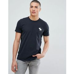Abercrombie & Fitch large Pop icon crew neck t-shirt in black - Black, w 5 rozmiarach