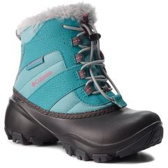 Columbia Śniegowce - childrens rope tow iii waterproof bc1323 iceberg/camellia rose 341