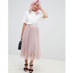 Amy Lynn plearted tulle midi skirt - Pink, kolor różowy