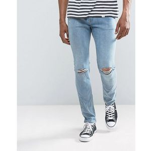 tight skinny jeans spear blue knee rip - blue marki Cheap monday