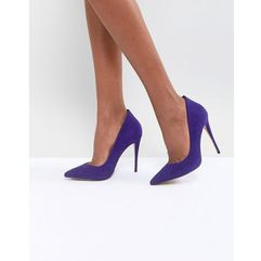Aldo suede purple pointed shoe - blue