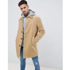 ASOS DESIGN single breasted cord trench coat in stone - Stone, 1 rozmiar