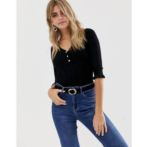 top with buttons in black - black, Miss selfridge