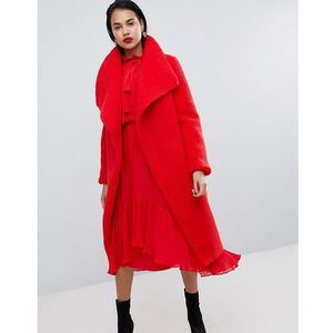waterfall teddy coat - red, Missguided