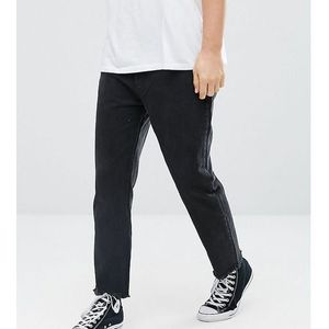 Rollas Stubs Cropped Taper Jeans Chopper Black - Black, jeans