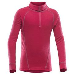 Devold koszulka termoaktywna duo active junior zip neck raspberry 12 (7028567149850)