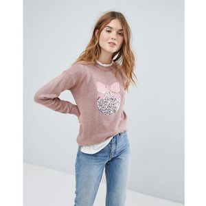 New Look Sequin Bauble Jumper - Pink, kolor różowy