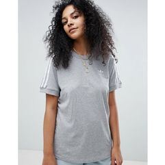 adidas Originals adicolor Three Stripe T-Shirt In Grey - Grey, kolor szary