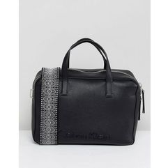 Calvin Klein Duffle Bag with Wide Strap - Black