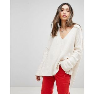 Free People Take Over Me V-Neck Jumper - White