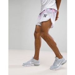 shorts in white with floral fade - white marki 11 degrees