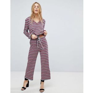 Honey punch relaxed trousers in stripe co-ord - multi