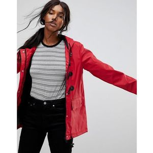 trucker rubberised coat with duffel fastenings - red marki Brave soul