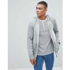 Abercrombie & Fitch Full Zip Hoodie Contrast Sleeve in Greys - Grey, w 2 rozmiarach