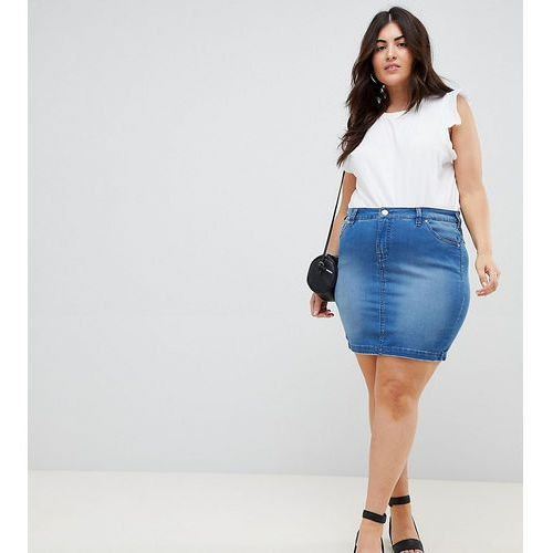 Zizzi exclusive to ASOS denim mini skirt - Blue