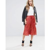 Whistles Pleated Skirt - Orange