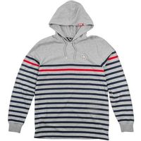 bluza DGK - Liverpool Hooded Knit Grey (GREY), kolor czerwony