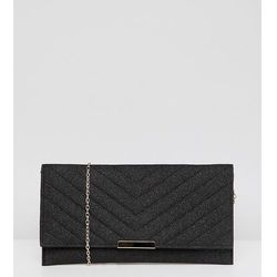 Accessorize kelly black glitter clutch bag - black